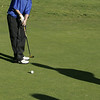 Wenham: Danvers middle schooler, Dan McKenna putts on the first green during the first ever Danvers-Marblehead middle school golf match held at Lakeview Golf Course Thursday.<br /> Photo by Deborah Parker/Salem News Thursday, October 23, 2008