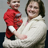 Becky Brown of Peabdoy and her son, Daniel, 3, enjoyed some time together during gymnastics class held at the McVann O'Keefe ice rink in Peabody. PHoto by Deborah Parker/January 5, 2009