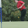 Marblehead: Salem's Wesley Koen puts on hole nine during the Northeastern Conference Golf Open held at Tedesco Country Club Thursday afternoon.<br /> Photo by Deborah Parker/Salem News Thursday, October 16, 2008