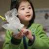 Ruby Scarcella, 5, of Beverly talks about how protected her egg as part of an egg drop at the Beverly Public Library. The experiment was part of the Astronomy Club, an afterschool program at the library for grade school students, where they can learn about Outer Space and the United States Space program. The program was lead by assistant Children's librarian LInda Furey. Photo by Deborah Parker/March 3, 2010.<br /> f, Ruby Scarcella, 5, of Beverly talks about how protected her egg as part of an egg drop at the Beverly Public Library. The experiment was part of the Astronomy Club, an afterschool program at the library for grade school students, where they can learn about Outer Space and the United States Space program. The program was lead by assistant Children's librarian LInda Furey. Photo by Deborah Parker/March 3, 2010.<br /> f