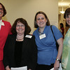 Danvers: From left, Debra Murphy of the North Shore Medical Center, Mary Murphy of Union Hospital, Courtney Belanger of North Shore Medical Center and Nancy Gagliano M.D. of Mass General pose together while attending the Opening Celebration of the Mass General/North Shore Cancer Center Outpatient Care center in Danvers. Photo by Deborah Parker/May 14, 2009