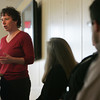 Valerie Buchanan Director of the Gordon College Office of Community Engagment and Gordon in Lynn speaks at Investing in the Community, a discussion about the connection between non-profit and profit businesses in the community held at Gordon College Wednesday afternoon. Photo by Deborah Parker/March 24, 2010