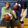 Junior point guard Heather Hicks and her coach Maureen Robinson have both suffered ACL injuries. Photo by Deborah Parker/February 1, 2009