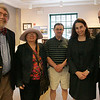 From left, Bill Finch of Beverly, Carol Rose of Beverly, Kevin Kidney of Dracut, and Dorothy and Eric Hayes of Salem attend the Historic Salem Inc.'s annual meeting held at the National Park Service Visitor Center in Salem Thursday evening. Photo by Deborah Parker/May 7, 2010