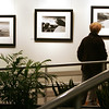 Dorothy Gampel of Rockport examines the work of photographer David Piemonte during the opening of his and his wife, Terry Del Percio-Piemonte's show at the Centennial Gallery at The Musculoskeletal Center. Photo by Deborah Parker/November 23, 2009
