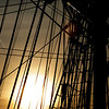 The sun shines through the rigging of the Friendship late Tuesday afternoon. Photo Deborah Parker/December 15, 2009