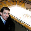 Boston: Eric Tosi of Beverly is the Manager of Media Relations for the Boston Bruins. Photo by Deborah Parker/Salem News Thursday, January 8, 2009.