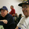 Honor Flight New England is flying six veterans from the Portuguese Veterans Post in Peabody to DC for the day on Saturday. Here, Joe Ortins and Tony Sanots talk about what they are looking forward to in their trip.  Photo by Deborah Parker/April 16, 2010