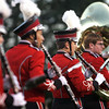 The Salem High School marching band performs for the crowd before the start of Friday night's football game against Bishop Fenwick held at Bertram Field in Salem. Photo by Deborah Parker/September 18, 2009