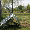 Unusual sculptures have appeared in Leslie's Retreat Park in Salem. Photo by Deborah Parker/July 21, 2010