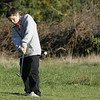 Wenham: Marblehead middle schooler, Cameron Rowe putts on the first green during the first ever Danvers-Marblehead middle school golf match held at Lakeview Golf Course Thursday.<br /> Photo by Deborah Parker/Salem News Thursday, October 23, 2008