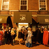 Salem: Halloween revelers wait in line outside the Hawthorne Hotel Halloween Night. Photo by Deborah Parker/Salem News Friday, October 31, 2008.