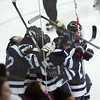 Peabody celebrates after scoring on Winthrop during last night's Division 1 North Semifinal game held at Chelmsford Forum Arena. Photo by Deborah Parker/March 1, 2010