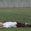 Salem: Salem's Jeff Iwanicki lies on the field after loosing to St. John's Prep in MIAA tournament action, 3-1. Photo by Deborah Parker/Salem News Friday, November 07, 2008