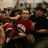 Salem celebrates after they defeated Dracut with just two seconds to go during last night's Division 2 North semi final game held at Woburn High School Photo by Deborah Parker/March 3, 2010<br /> , Salem celebrates after they defeated Dracut with just two seconds to go during last night's Division 2 North semi final game held at Woburn High School Photo by Deborah Parker/March 3, 2010