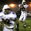 Peabody:Beverly's Mark Hannable looks for an open teammate during their game against Peabody Friday night.<br /> Photo by Deborah Parker/Salem News Friday, October 10, 2008