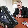Former Iraq war veteran Erik Derisse started a security company, Elite Guardian Solutions, that employs veterans. The company was incorporated in 2007 and the security guards wear suits and ties to project a professional image. Photo by Deborah Parker/August 24, 2009