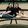 Kristen Lojko, a pitcher, and Courtney Chalifour, her catcher, both from Beverly who were members of the Beverly High softball team. Now they're teammates on the Agganis All-Star Softball Classic to be held next week. Photo by Deborah Parker/July 03, 2009