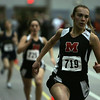 Marblehead Julia Kingsley competes in the 300 meter during last night's meet against Marblehead and Lynn English held at Marblehead High School. Photo by Deborah Parker/January 11, 2009