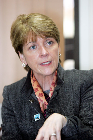 Martha Coakley, candidate for U.S. Senate, spoke to the Salem News editorial board Friday afternoon. Photo by Deborah Parke/November 6, 2009
