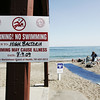Devereaux Beach is closed to swimming due to a high bacteria count in the water. Photo by Deborah Parker/July 10, 2009