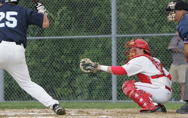 Masco's Colin Shepard catches in Monday's Division 2 North quarterfinal's state tournament game against Wilmington held in Topsfield. Photo by Deborah Parker/June 7, 2010