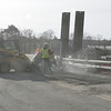 Crews work to fix a water main break on Water Street in Danvers Tuesday morning. photo by deborah parker/november 30, 2010