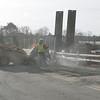 Crews work to fix a water main break on Water Street in Danvers Tuesday morning. photo by deborah parker/november 30, 2010