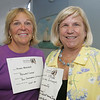Penny Blaisdell of Blaisdell Cooper and Hannah Stringer of Admiral Concierge pose together at the launch of the Chamber Professionals Group, part of the Marblehead Chamber of Commerce, held at Marblehead Bank Monday evening. Photo by Deborah Parker/September 20, 2010