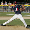 Peabody West's Traverse Briana throws out a pitch again Stoneham during the Little League Sectional Championship held at Weafer Park in Worburn, Monday evening. Photo by Deborah Parker/July 25, 2010