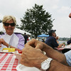 Lana Bucci and her husband Roy, of Wenham, enjoy their lobsters while at the Lobster Festival part of this year's Beverly Homecoming. photo by Deborah parker/august 4, 2010