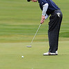 Beverly:<br /> Ryan Richard of Hamilton-Wenham High School, putts his shot on the 9th hole at Beverly Golf & Tennis Club during the Division 3 state championship golf.<br /> Photo by Ken Yuszkus/Salem News, Monday,  October 25, 2010.