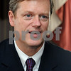 Marblehead:<br /> Charlie Baker, republican running for governor, spoke to the Rotary Club at the Boston Yacht Club.<br /> Photo by Ken Yuszkus/Salem News, Thursday, September 3, 2009.