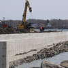 Salem:<br /> Construction continues on Phase 1 of the new Salem Pier.<br /> Photo by Ken Yuszkus/Salem News, Friday,  April 8, 2010.
