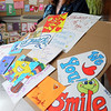 "Danvers:<br /> Patty Armstrong will distribute about 50 homemade cards to children with cancer on Saturday at the Dana Farber Cancer Institute, as part of a national ""Cards for Cancer Day."" <br /> Photo by Ken Yuszkus/Salem News, Thursday, April 8, 2010."