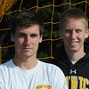 Peabody:<br /> Bishop Fenwick boys soccer assistant coach, Steve Blaisdell, left, and his brother, captain Bryon Blaisdell, at practice on Tuesday.<br /> Photo by Ken Yuszkus/Salem News, Tuesday, October 11, 2011.