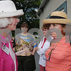 Salem:<br /> Left, Patricia Kohn Hayden, of Maine, and Connie Cutler Goodman of Pennsyvannia, both 1959 Salem High graduates, talk on the deck outside the function hall during the Salem High 50th reunion picnic at Winter Island.<br /> Photo by Ken Yuszkus/Salem News, Sunday, July 12, 2009.