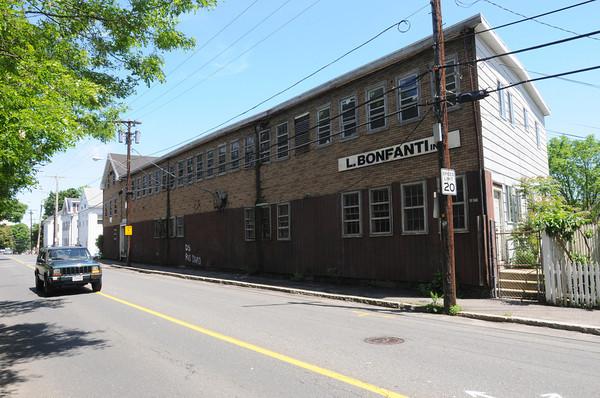 Salem:<br /> The old Bonfanti leather factory on Mason Street.<br /> Photo by Ken Yuszkus/Salem News, Wednesday, May 23, 2012.