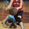Marblehead:<br /> Maggie Dierande from the team, The Swish, handles the ball at the Jimmy Myers 3-on-3 Basketball Tournament held at the JCC of the North Shore.<br /> Photo by Ken Yuszkus/Salem News, Monday, January 16, 2012.