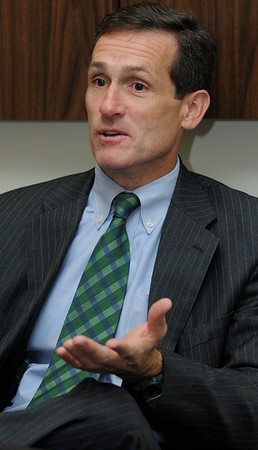 Beverly:<br /> Mike Cahill is a candidate for Beverly mayor.<br /> Photo by Ken Yuszkus/Salem News, Monday, October 31, 2011.