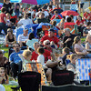 Salem:<br /> The crowd is listening to the group Britannica play music on stage at the Fourth of July activities at the Salem Maritime Site.<br /> Photo by Ken Yuszkus/Salem News, Wednesday, July 4,  2012.