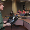 Wenham:<br /> Alex Belyea is one of the eleven Landmark School student advocates to present their ideas about what it is like to live with a learning disability to students at Gordon College . <br /> Photo by Ken Yuszkus/Salem News, Thursday, April 12, 2012.