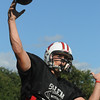 Salem:<br /> Brad Skeffington, senior captain and quarterback, and the Salem High football team are practicing for their big game against Saugus on Friday.<br /> Photo by Ken Yuszkus/Salem News, Wednesday,  September 15, 2010.