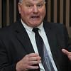Beverly:<br /> Salem superintendent Stephen Russell speaks with The Salem News staff on Monday.<br /> Photo by Ken Yuszkus/Salem News, Monday,  February 27, 2012.