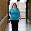 Salem:<br /> Nancy Kerins, who works at Salem Hospital, recently had weight-loss surgery and has taken off close to 50 pounds already, and just graduated from their post-op counseling classes.<br /> Photo by Ken Yuszkus/Salem News, Monday, March 21, 2011.