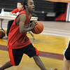 Marblehead:<br /> Demarco Dooley during practice at Marblehead High School fieldhouse.<br /> Photo by Ken Yuszkus/Salem News, Thursday, January 28, 2010.