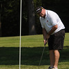 Wenham:<br /> Phil Kimball just misses the 18th hole during the annual Beverly High Hockey Alumni Golf Tournament at Wenham Country Club.<br /> Photo by Ken Yuszkus/Salem News, Monday, July 11, 2011.