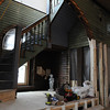 Swampscott:<br /> The stairway to the second floor near the original two bay area of his Phillips Beach Fire Station which is now being transformed into Steve Hayes' residence.<br /> Photo by Ken Yuszkus/Salem News, Tuesday,  November 30, 2010.