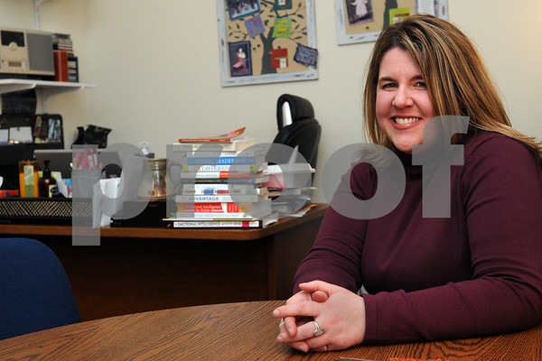 Salem:<br /> Carrie Stack of Say Yes Institute, works with clients who are facing stressors during the holidays, as well as all year.<br /> Photo by Ken Yuszkus/Salem News, Wednesday December 10, 2008.