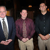 Danvers:<br /> From left, Kevin Flynn, head hockey coach, Jeff McGonagle, class of 1996, and Sans Milbury, class of 1995, attend the Danvers High School Athletic Hall of Fame ceremony at Danversport Yacht Club.<br /> Photo by Ken Yuszkus/Salem News,  Tuesday,  November 23, 2010.